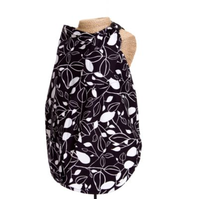 Balboa Baby® Nursing Cover in Black & White Leaf