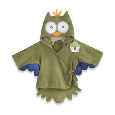 Baby Aspen My Little Night Owl Hooded Terry Spa Bathrobe in Green