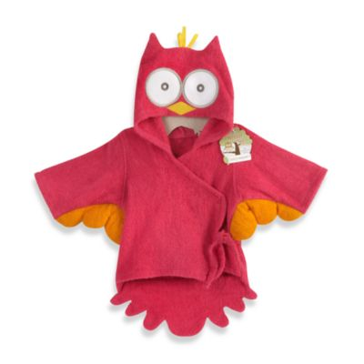 Baby Aspen My Little Night Owl Hooded Terry Spa Bathrobe in Pink
