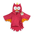 Baby Aspen My Little Night Owl Hooded Terry Spa Robe in Pink