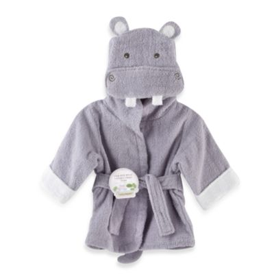Baby Aspen Hug-A lot-Amus Hooded Hippo Bathrobe in Lavender