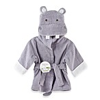 Baby Aspen Hug-A lot-Amus Hooded Hippo Robe in Lavender