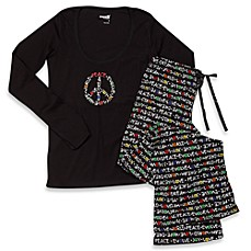 Capelli® Peace Multicolor 2-Piece Ladies Pajama Set