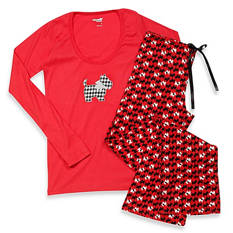 Capelli® Scottie Red 2-Piece Ladies Pajama Set