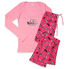 Capelli® All About Shoes Pink 2-Piece Ladies Pajama Set