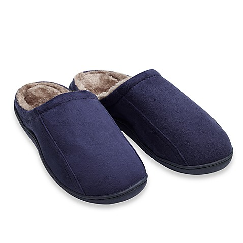 Men's Memory Foam Slipper - Navy (Medium)