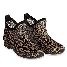 Capelli® Women's Shiny Leopard Rain Booties