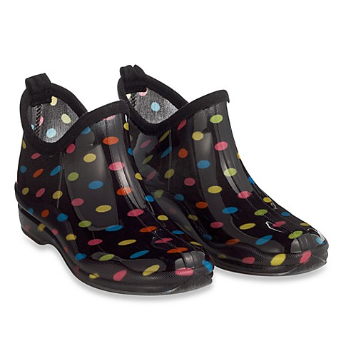 Capelli® Women's Shiny Multi Dots Rain Booties - Size 7