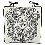 Park B. Smith Paris Postage Tapestry Chair Pad in Natural/Black