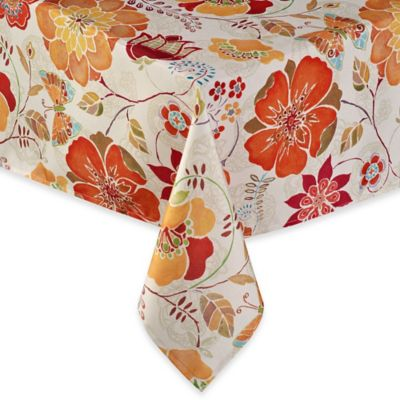 Free Spirit 60-Inch x 120-Inch Oblong Umbrella Tablecloth