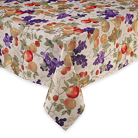 Buy bountiful mosaic 60 inch x 120 inch tablecloth from for Tablecloth 52 x 120