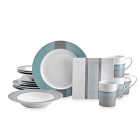 Nautica® West End Slate 16-Piece Dinnerware Set