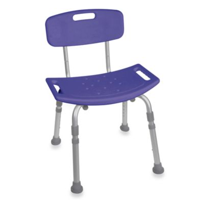 Drive Medical Bathroom Safety Shower Tub Chair with Back in Blue