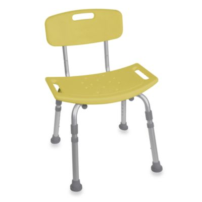Drive Medical Bathroom Safety Shower Tub Chair with Back in Yellow