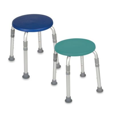 Drive Medical Adjustable Bathroom Safety Shower Tub Stool - Blue