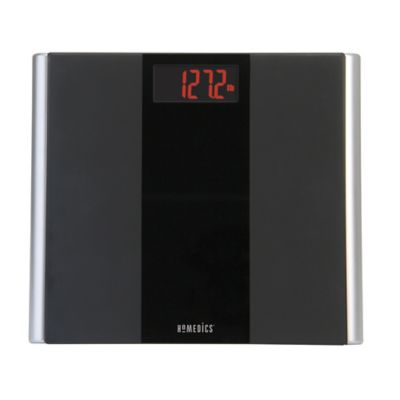 HoMedics® Black Glass LED Digital Bathroom Scale