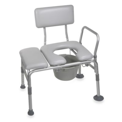 Drive Medical Aluminum Padded Transfer Bench and Commode
