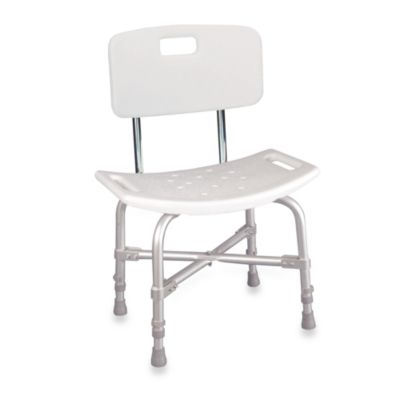 Drive Medical Aluminum Bariatric Heavy Duty Bath Bench with Back