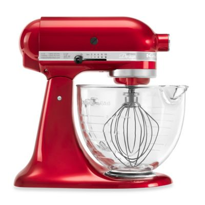 KitchenAid® 5-Quart Artisan® Design Series Stand Mixer with Glass Bowl in Plumberry