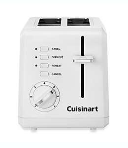 Cuisinart® Tostador compacto frío al tacto para dos rebanadas, blanco