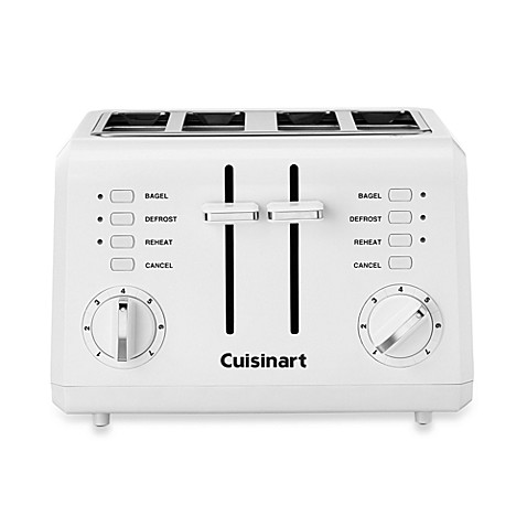 Cuisinart® White Compact Cool-Touch 4-Slice Toaster
