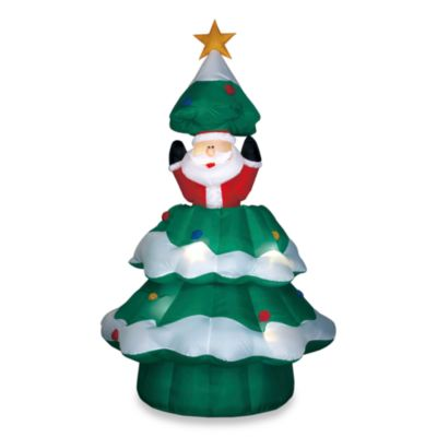 Airblown® 6.5-Foot Animated Santa Christmas Tree