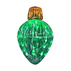 Starry Night 13-Inch Crystal Green Lighted Ornament