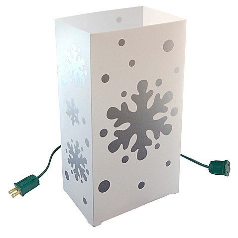 Electric Snowflakes 10-Count Luminaria Kit