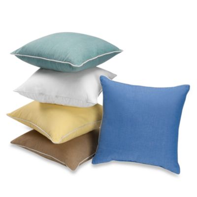 Montauk Square Throw Pillow in Aqua