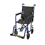 Drive Medical Blue Aluminum Transport Wheelchairs