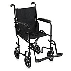 Drive Medical Aluminum Lightweight 17-Inch Transport Chair in Black