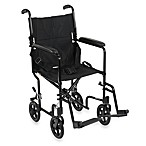 Drive Medical Aluminum Lightweight 19-Inch Transport Chair in Black