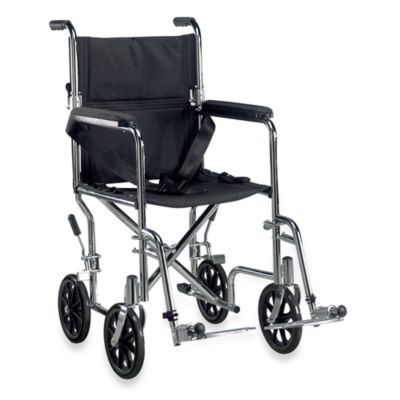 Drive Medical Go Cart Lightweight Steel Wheelchair in Chrome