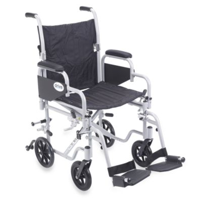 Drive Medical Poly-Fly Lightweight 18-Inch Wheelchair/Flyweight Transport Chair Combo