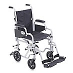 Drive Medical Poly-Fly Lightweight 16-Inch Wheelchair/Flyweight Transport Chair Combo