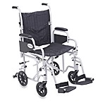 Drive Medical Poly-Fly Lightweight 20-Inch Wheelchair/Flyweight Transport Chair Combo