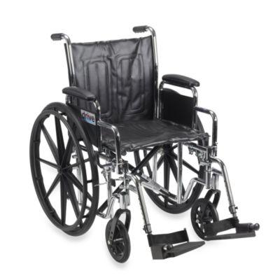 Drive Medical Chrome Sport 18-Inch Wheelchair