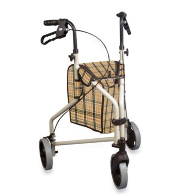 Drive Medical Winnie Lite Supreme Three-Wheeled Rollator w/7 1/2-Inch Wheels in Tan