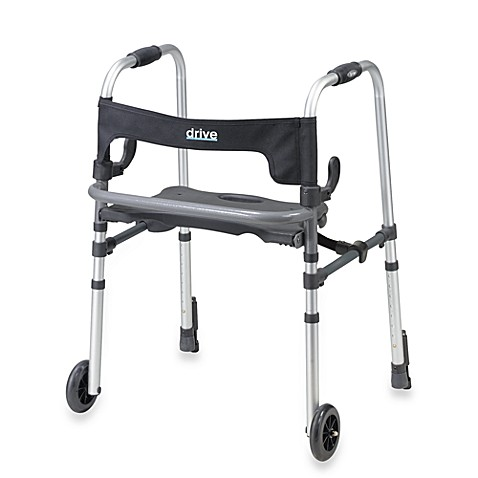 Drive Medical Clever Lite Walker with Push Brakes