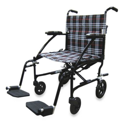 Drive Medical Fly-Lite Aluminum Transport Chair in Black