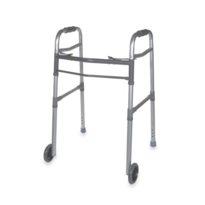 Drive Medical Two Button Universal Walker with 5-Inch Wheels