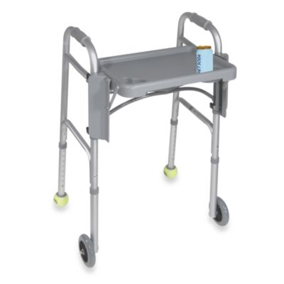 Drive Medical Folding Walker Tray with Cupholders