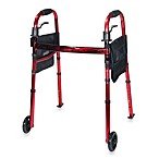 Drive Medical Red Travel Walker with 5-Inch Wheels