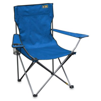 Quik Chair Bronze Series Folding Arm Chair in Royal Blue