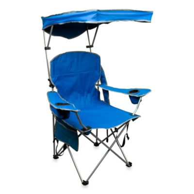 Quik Chair Quik Shade Folding Arm Chair 2.6 in Royal Blue