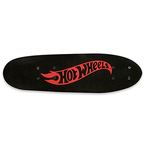 Hot Wheels 21-Inch Skateboard with Red Logo