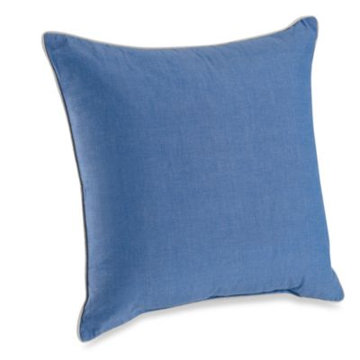 Montauk Square Throw Pillow Coastal Home Accents