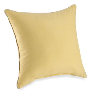 Montauk 20-Inch Square Toss Pillow in Yellow