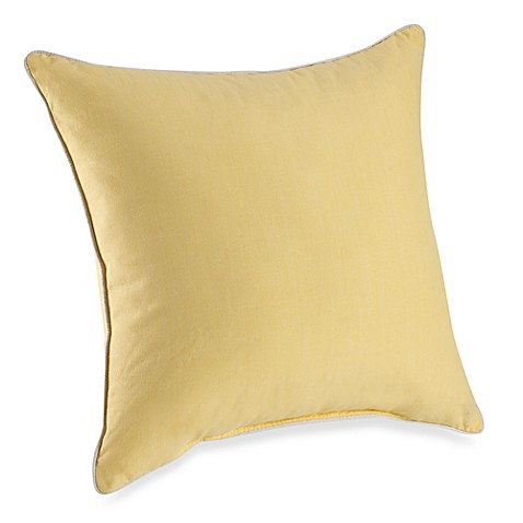 Yellow Decorative Pillows For Bed : Montauk Square Throw Pillow in Yellow - Bed Bath & Beyond