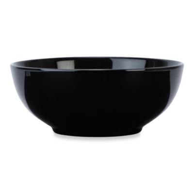 Everyday Color Black Rim Round 24-Ounce Bowl in 6-Inch